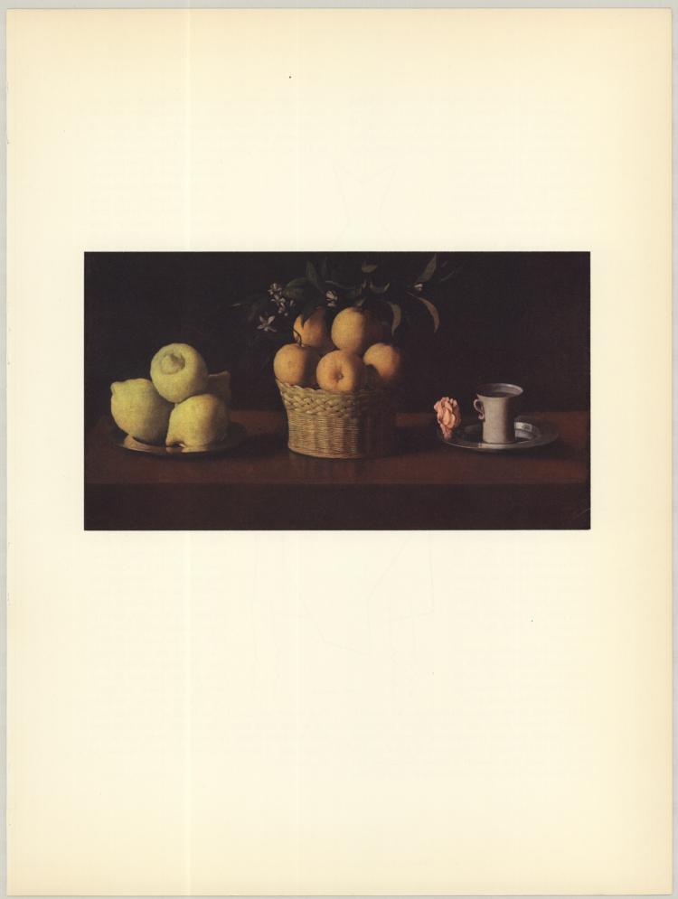 Zurbaran - Citrons, Oranges et Rose - 1953