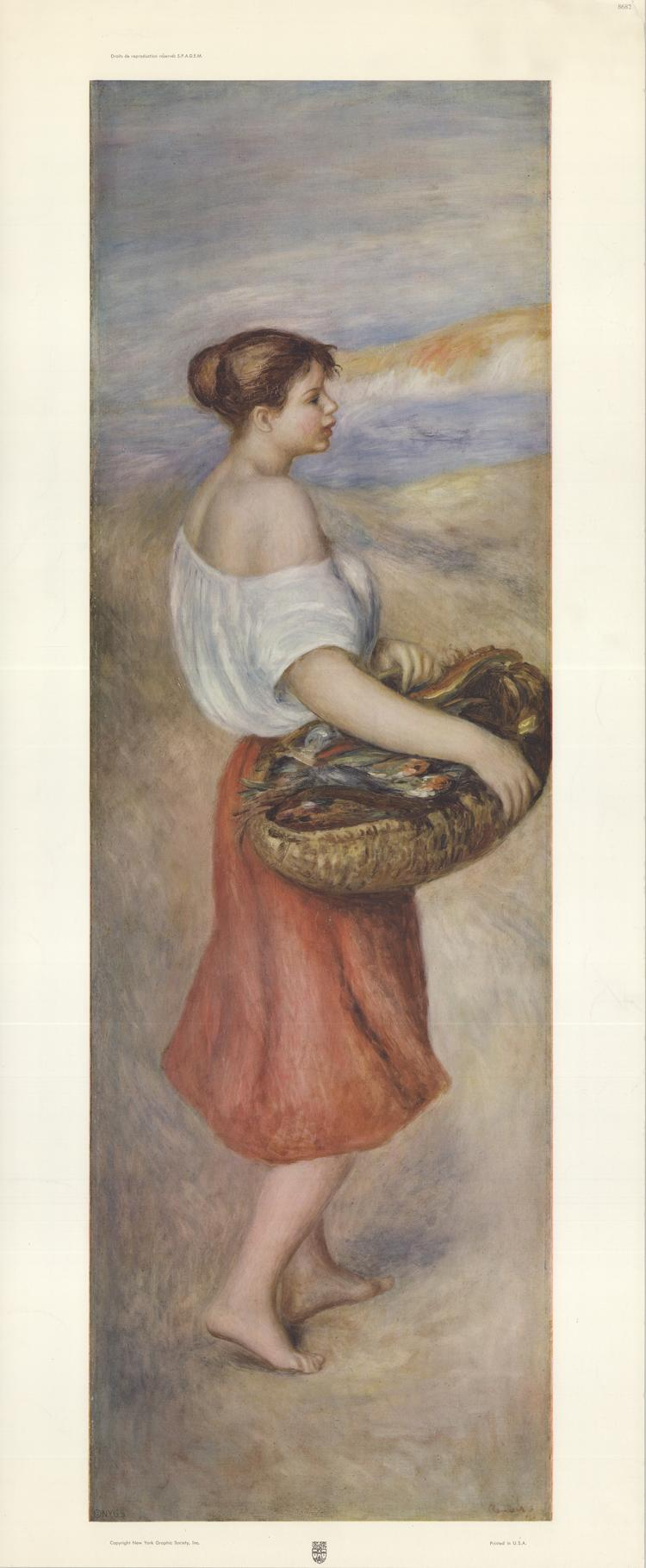 Pierre-Auguste Renoir - Girl with a Basket of Fish