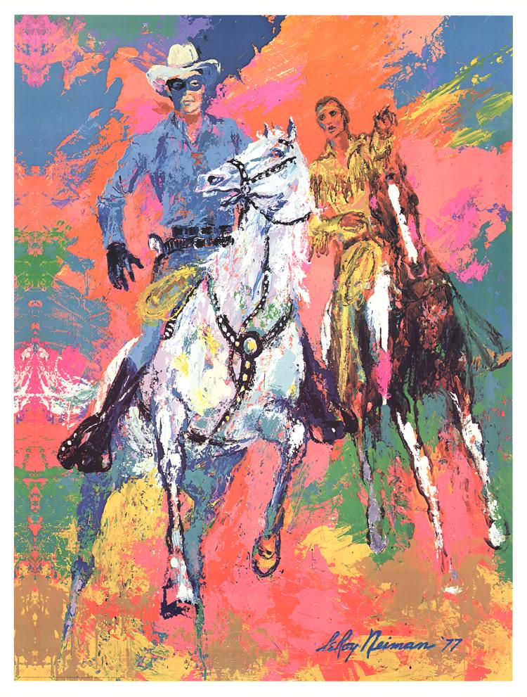 Leroy Neiman - The Lone Ranger and Tonto - 1981