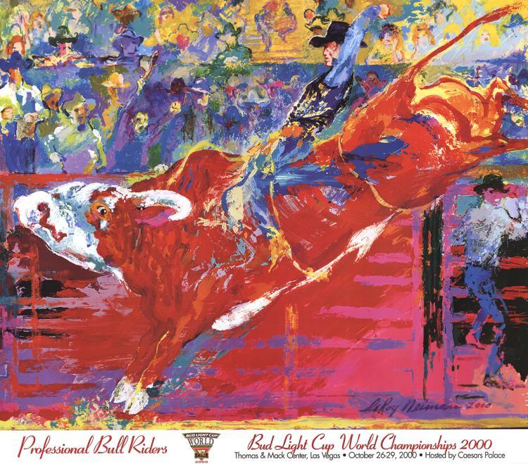 Leroy Neiman - Bull Rider - 2000