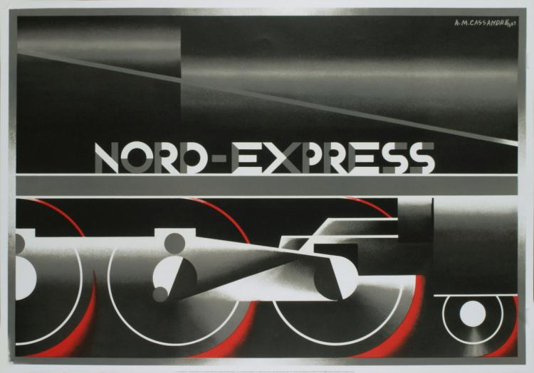 A.M. Cassandre - Nord-Express (RESTRIKE) - 1995
