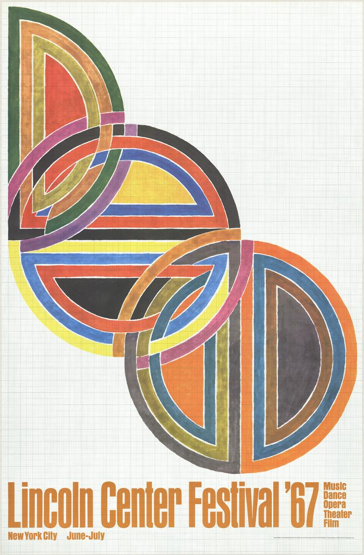 Frank Stella - Lincoln Center Festival - 1967