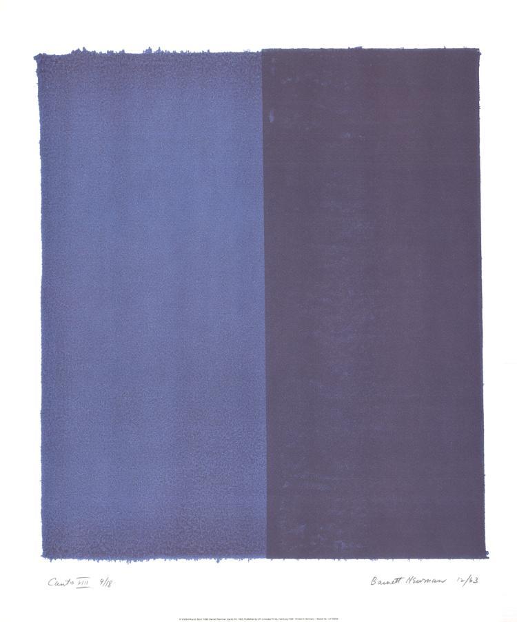 Barnett Newman - Canto VII - 1998