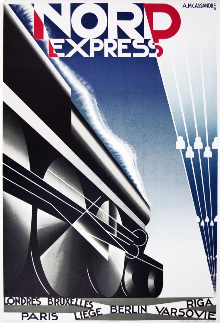 A.M. Cassandre - Nord Express - 1980