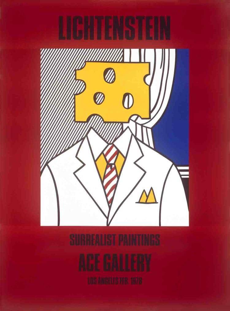 Roy Lichtenstein - Surrealist Paintings (Cheese Head) - 1978