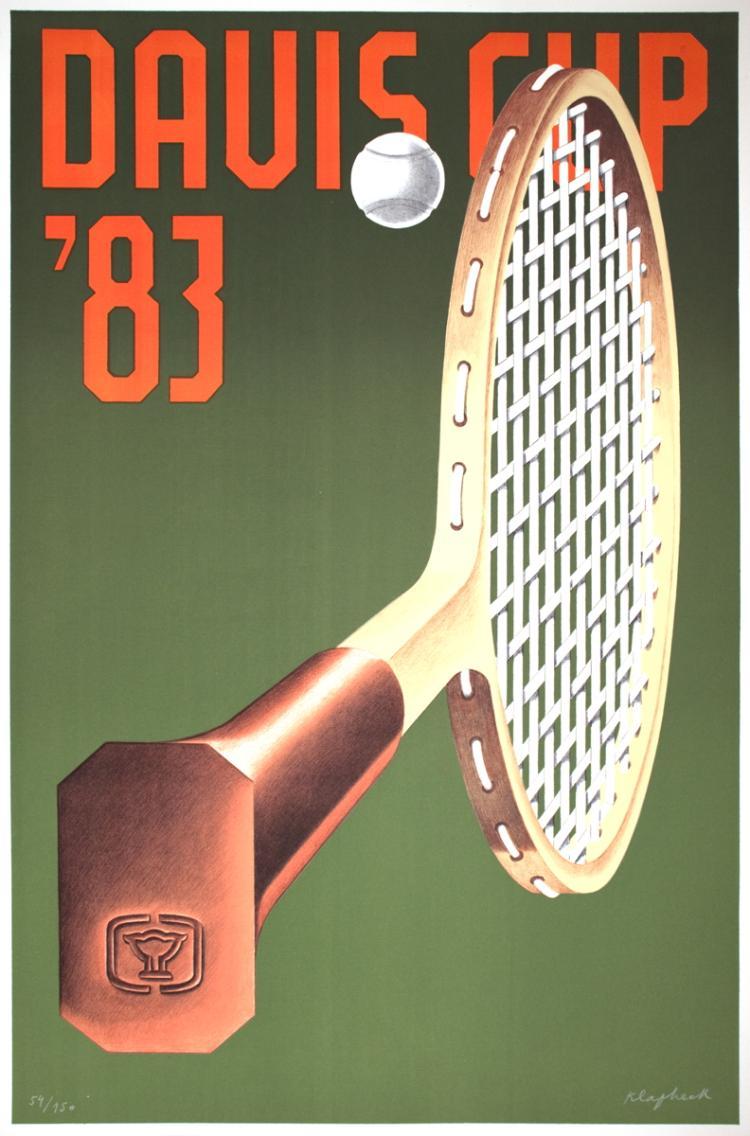 Konrad Klapheck - Davis Cup - 1983 - SIGNED