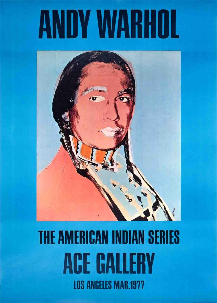 Andy Warhol - American Indian (Blue) - 1977