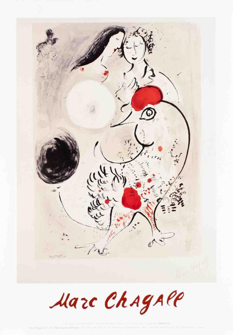 Marc Chagall - Pair of Lovers with Rooster - 2002