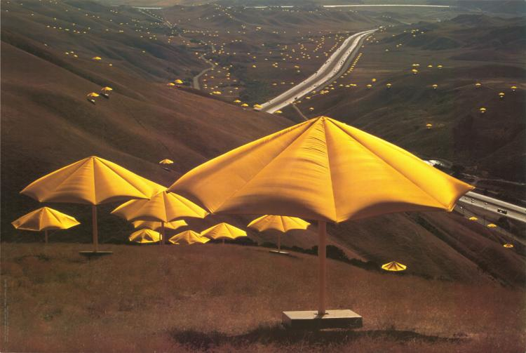 Javacheff Christo - The Umbrellas, Japan-USA (Yellow) - 1991