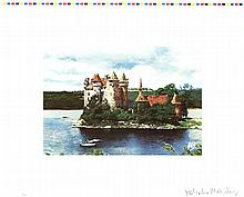 Malcolm Morley - Rhine Chateau - 1972 - SIGNED