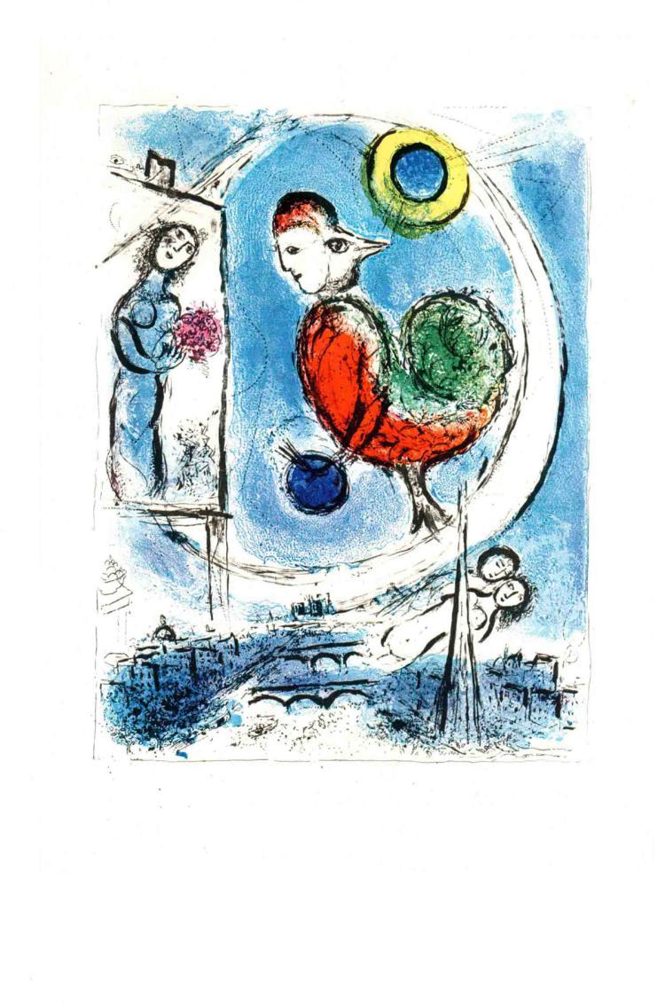 Marc Chagall - Le Coq sur Paris - 1963