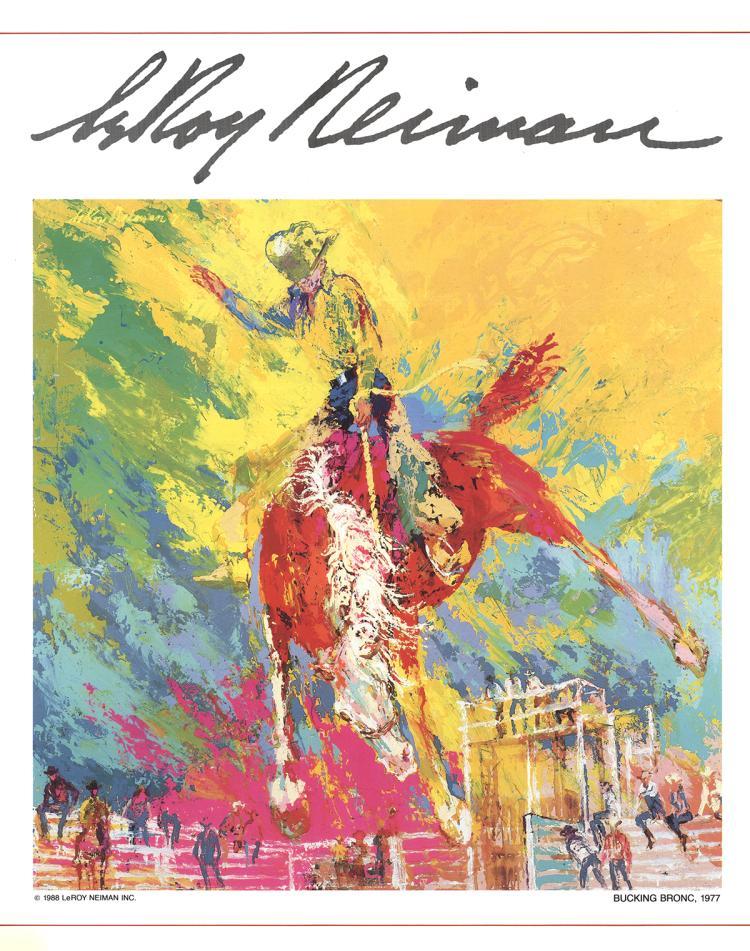 Leroy Neiman - Bucking Bronc - 1977