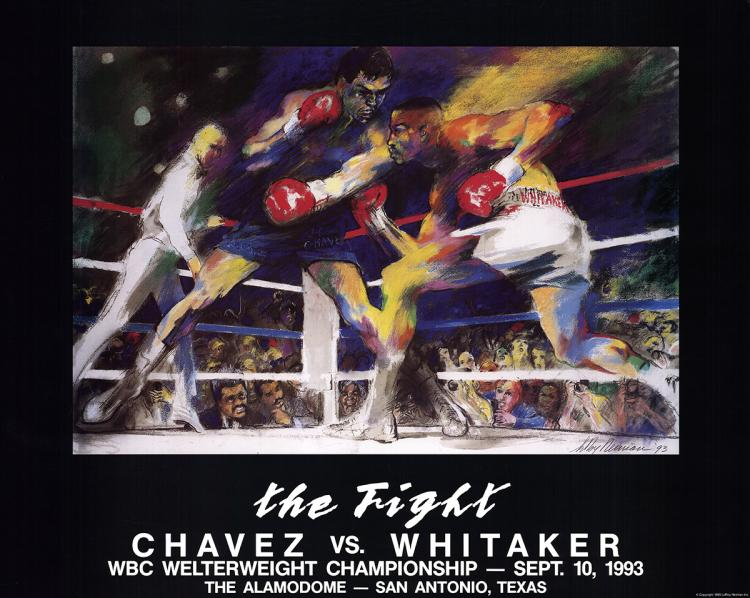 Leroy Neiman - The Fight: Chavez vs. Whitaker - 1993