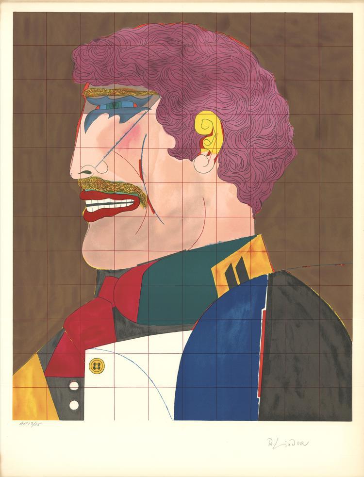 Richard Lindner - Profile - 1969 - SIGNED