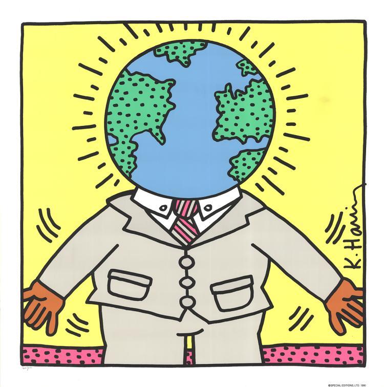 Keith Haring - Globe Man - 1990