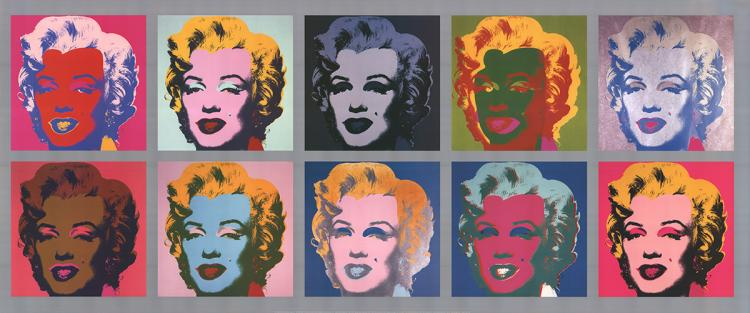 Andy Warhol - 10 Marilyns - 2004