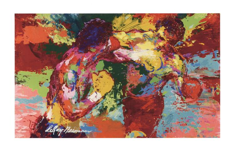 Leroy Neiman - Rocky vs. Apollo
