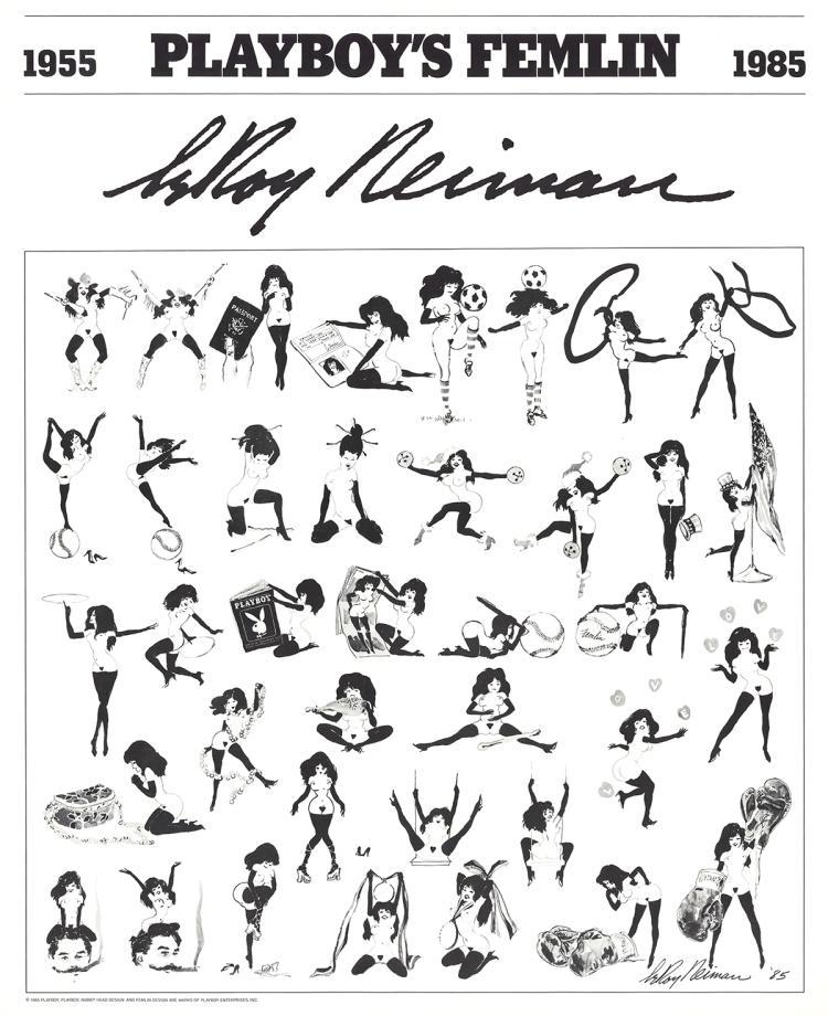 Leroy Neiman - Playboy's Femlin - 1985