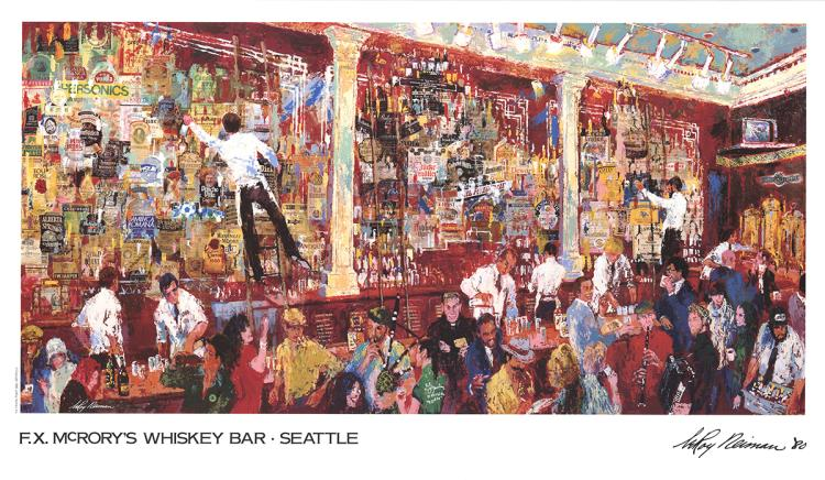 Leroy Neiman - F.X. McRory's Whiskey Bar-Seattle - 1980
