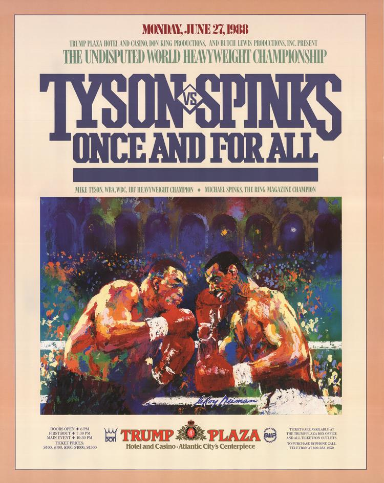 Leroy Neiman - Tyson vs. Spinks: Once and for All - 1988