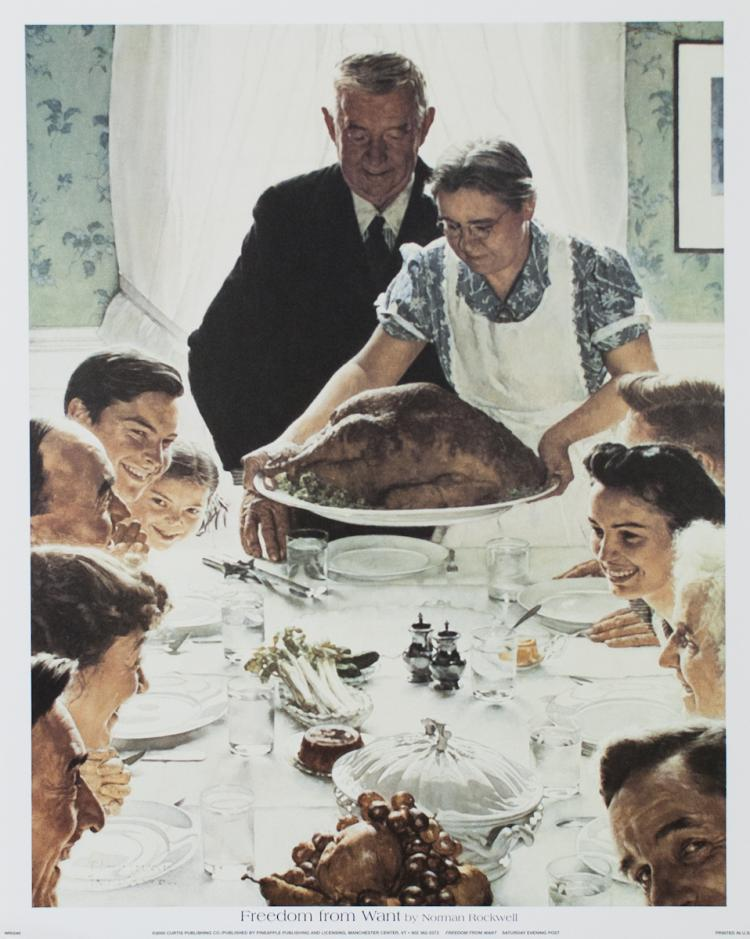 Norman Rockwell - Freedom from Want(Thanksgiving) - 2000