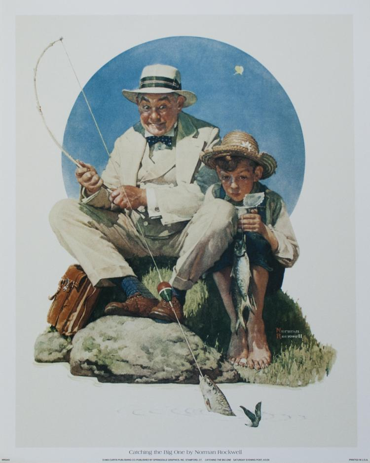 Norman Rockwell - Catching the Big One - 1993