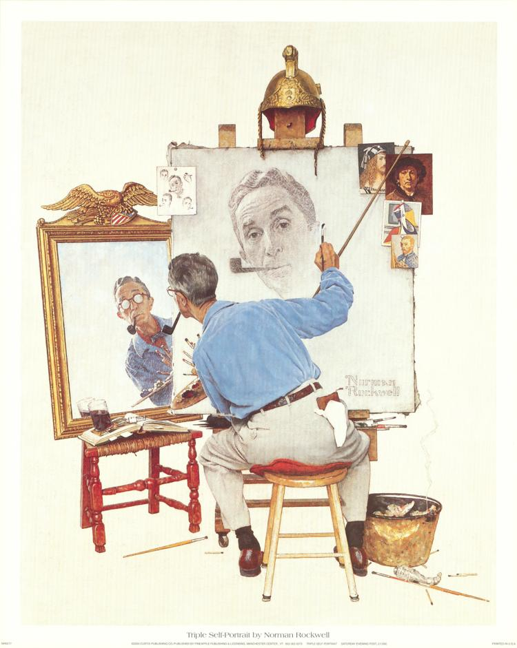 Norman Rockwell - Triple Self-Portrait - 2000