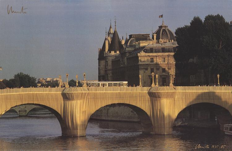Javacheff Christo - le Pont Neuf - 1985 - SIGNED