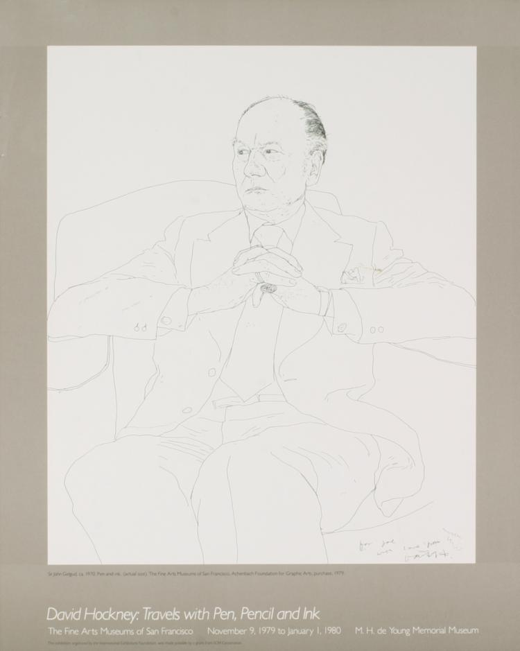 David Hockney - Sir John Gielgud
