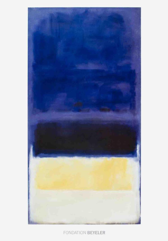 Mark Rothko - Untitled (Blue, Dark Blue, Yellow) - 2001