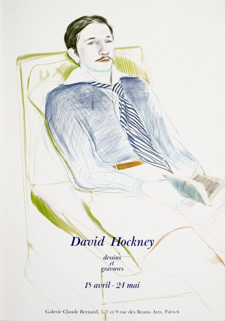 David Hockney - Jacques de Bascher de Beaumarchais - 1975