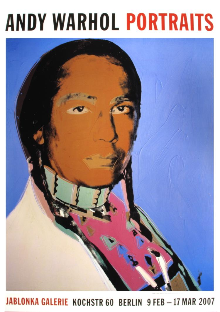 Andy Warhol - Portrait of Russell Means - 2007