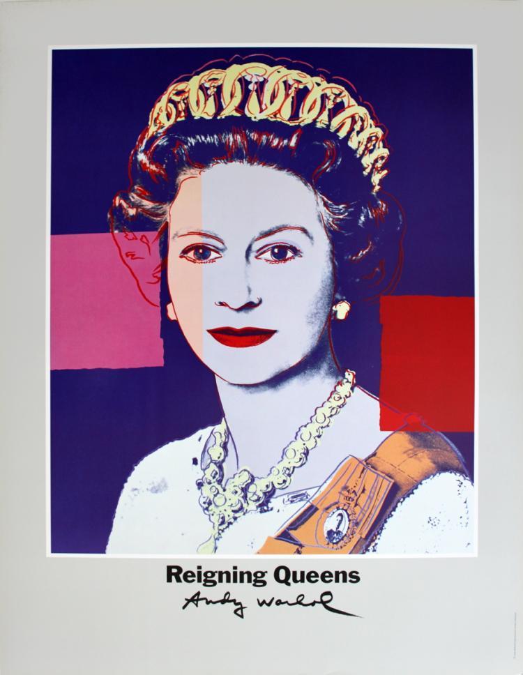 Andy Warhol - Queen Elizabeth II of England from Reigning Queens - 1986