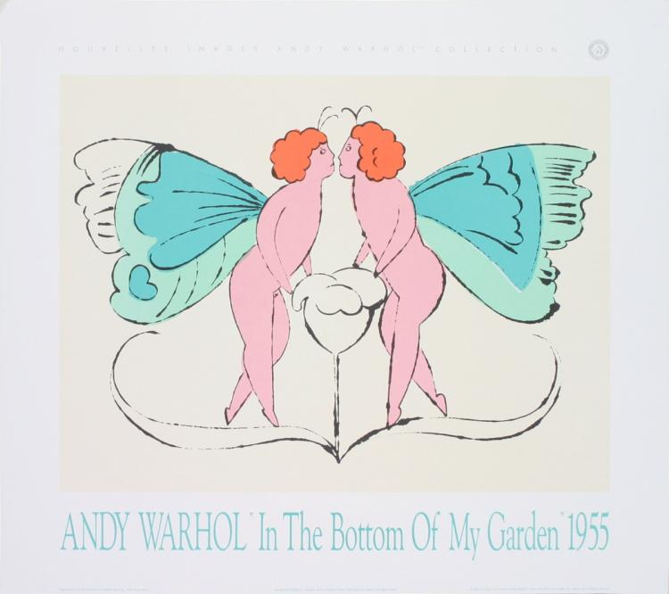 Andy Warhol - Page from In the Bottom of My Garden - 1989
