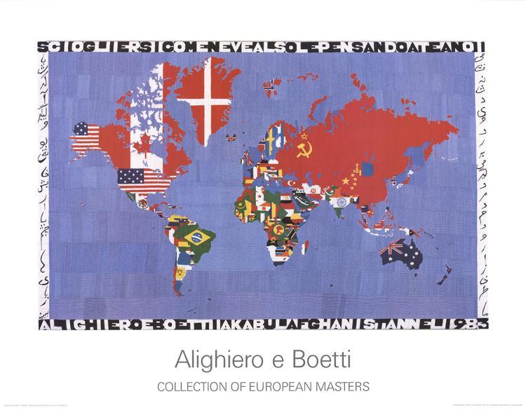 Alighiero Boetti - Map - 1985