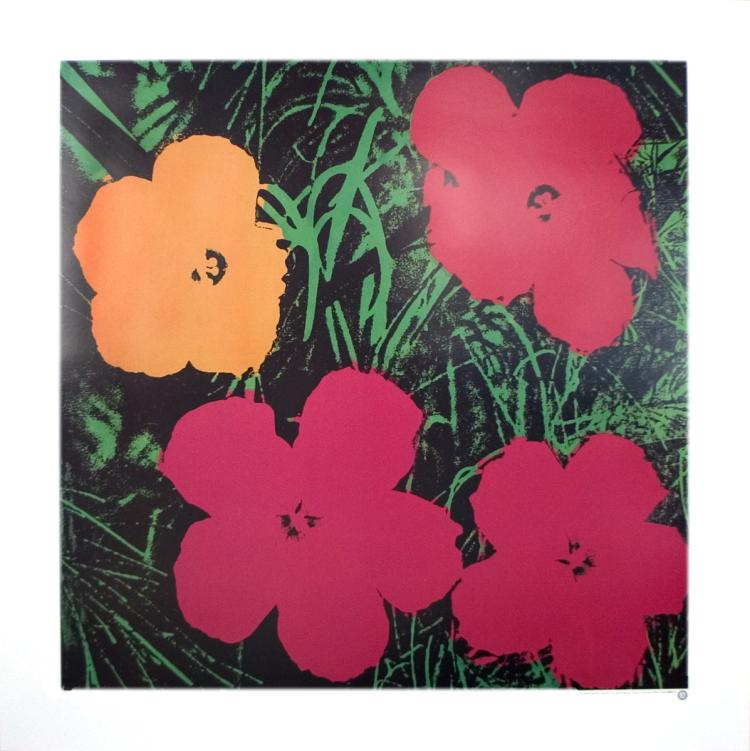 Andy Warhol - Flowers (One Orange, Three Red) - 1986