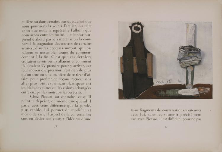 Pablo Picasso - Bouteille et Vitre - 1938