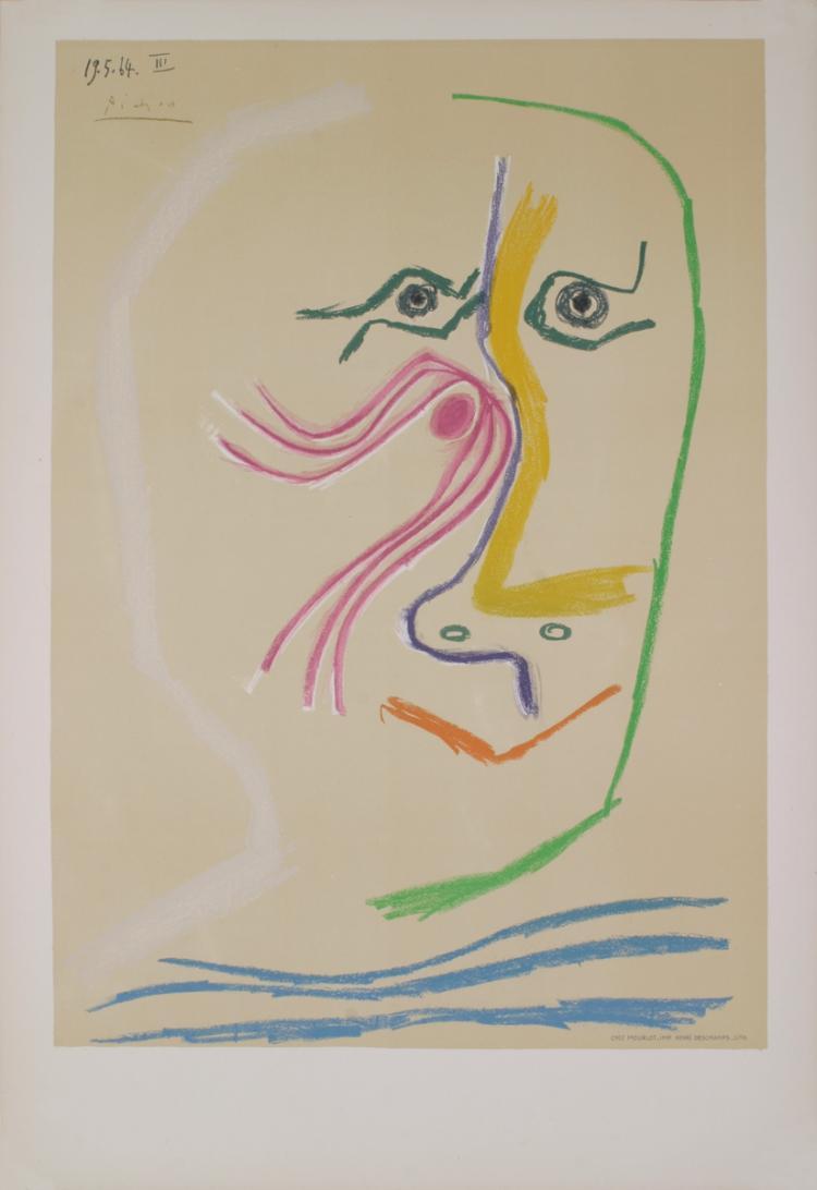 Pablo Picasso - Homage a Rene Char-avant lettre - 1969