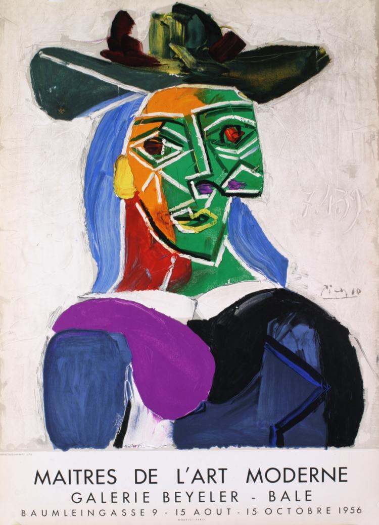 Pablo Picasso - Woman with Hat - 1956