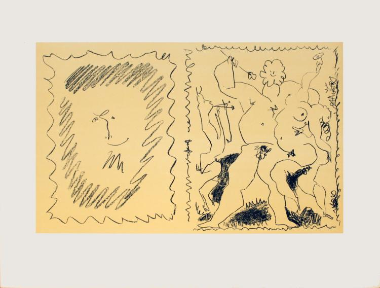 Pablo Picasso - Cover of Tome III of Picasso lithographs - 1956