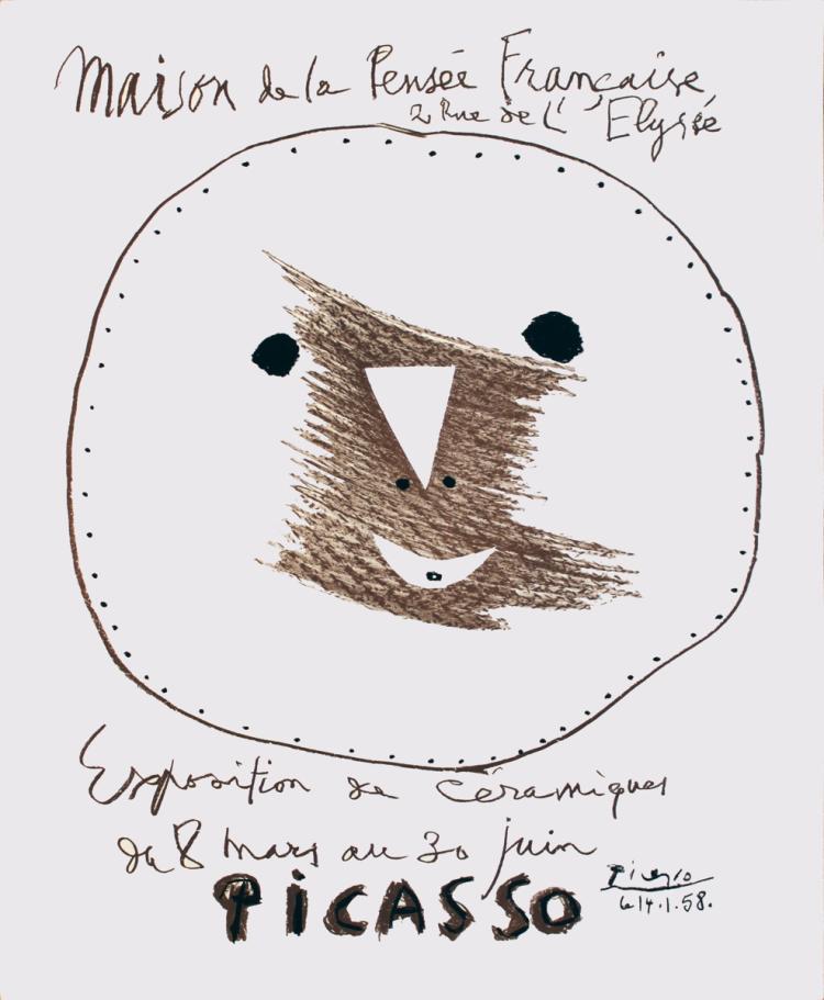 Pablo Picasso - Maison de la Pensee Francaise - 1958