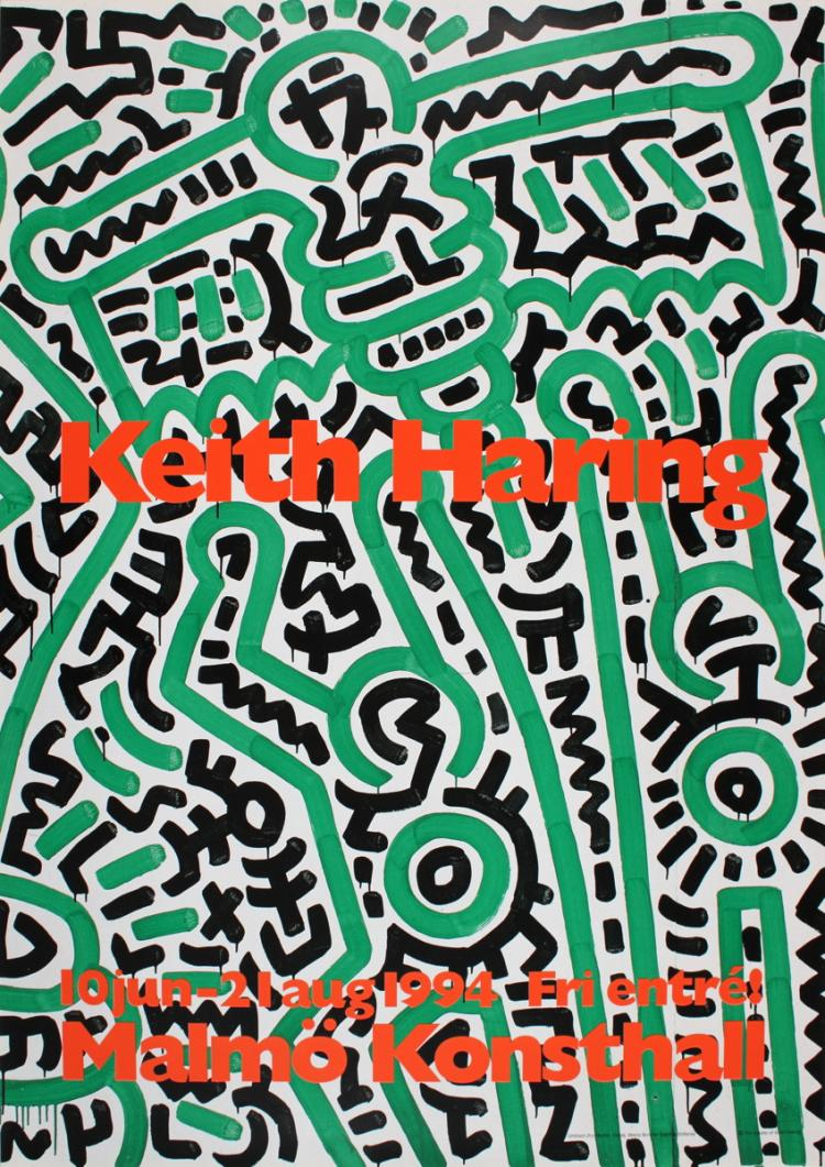 Keith Haring - Untitled (For Maria), Detail - 1994