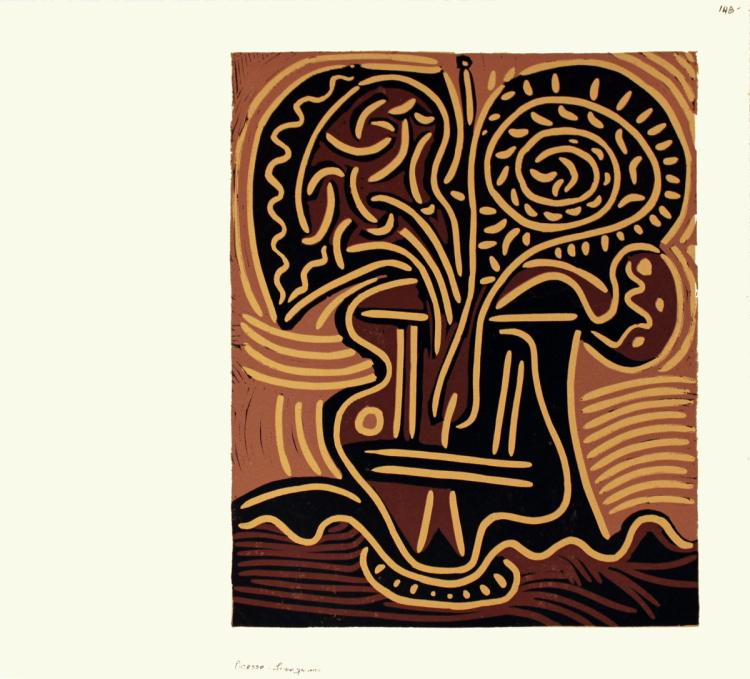 Pablo Picasso - Le vase de Fleurs - 1962