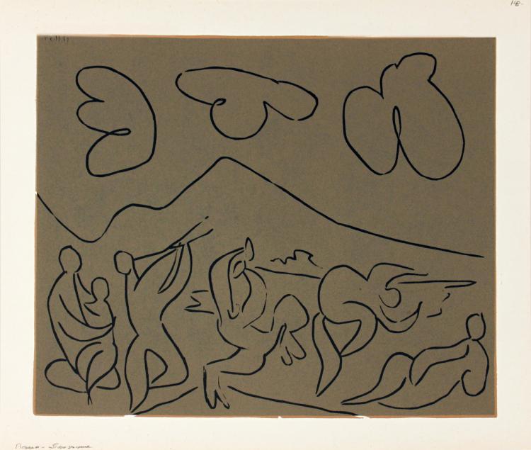 Pablo Picasso - Bacchanale - 1962