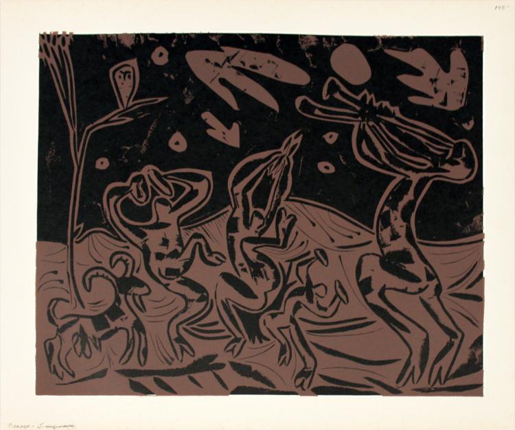 Pablo Picasso - Les Danseurs au Hibou - 1962
