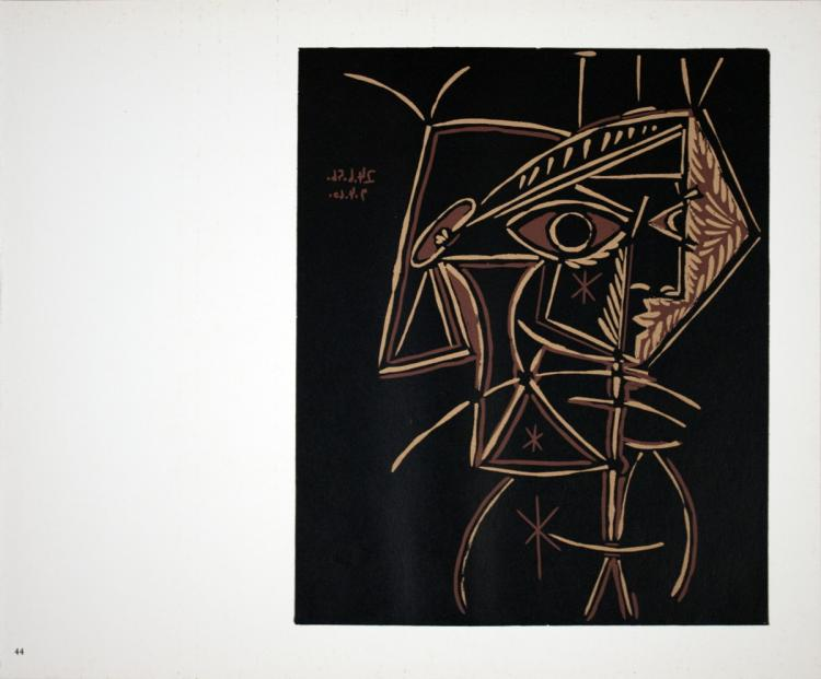 Pablo Picasso - Tete de Femme - 1962