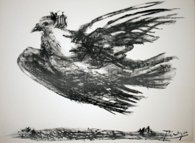 Pablo Picasso - La Colombe en Vol - 1974