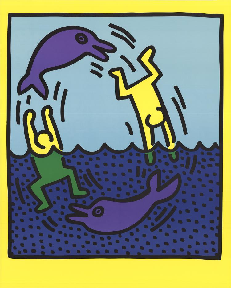 Keith Haring - Untitled (Delphine,1983) - 1989