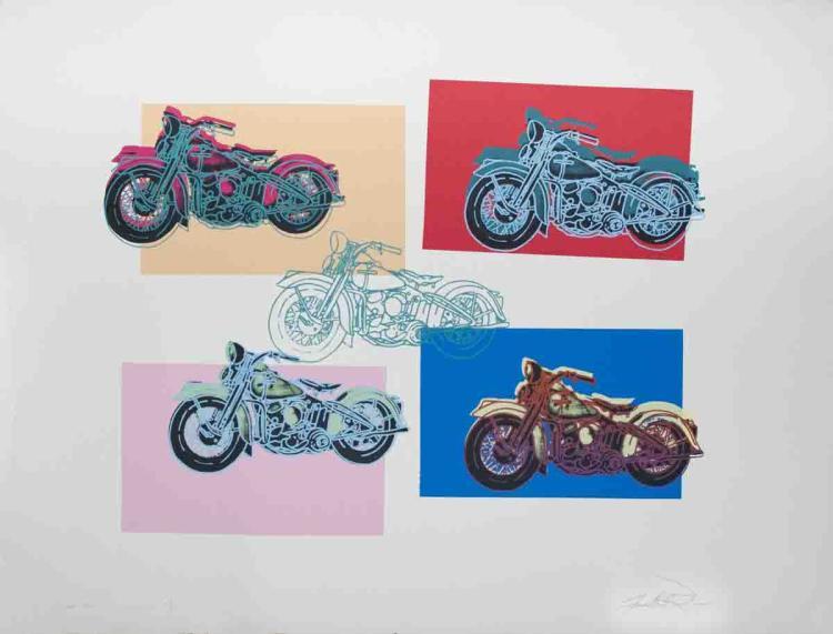Signed 1994 Renbaum Harley x 5 Serigraph