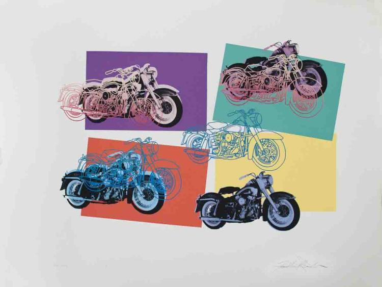 Signed 1994 Renbaum Harley x 6 Serigraph